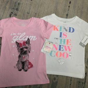 2adorable girls tee shirts
